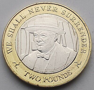 2019 Isle of Man D-Day Churchill £2 coin - Circulated
