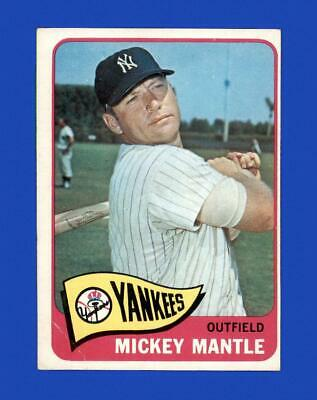 1965 Topps Set Break #350 Mickey Mantle VG-VGEX (crease) *GMCARDS*