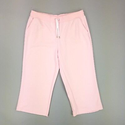 Ralph Lauren Active Wear Pink Cropped Athletic Pants Womens Size Large