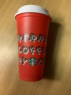 Starbucks 2019 Limited Edition Reusable Holiday Christmas Red Cup 16oz Grande