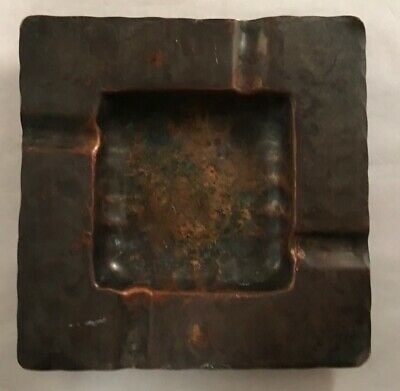 Antique Craftsman Co. 425 Hammered Copper Ash Tray Arts And Crafts