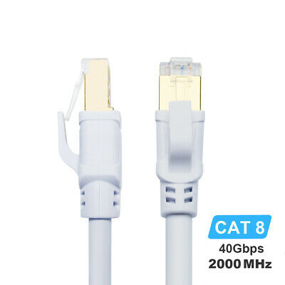 CAT8 Ethernet Cable 40Gbps 2000MHz High Speed RJ45 Network Lan Internet Cable