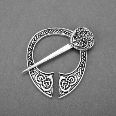 Medieval Cloak Clasp Celtic Brooch Pin Viking Scottish Decoration Jewelry Knot