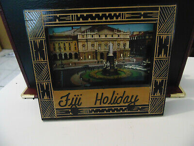Fiji Holiday Picture Frame Wood - Postcard Size Fantastic Condition