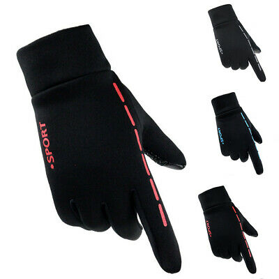 Mens Womens Warm Anti-slip Gloves Touch Screen Driving Cycling Running Gloves RO