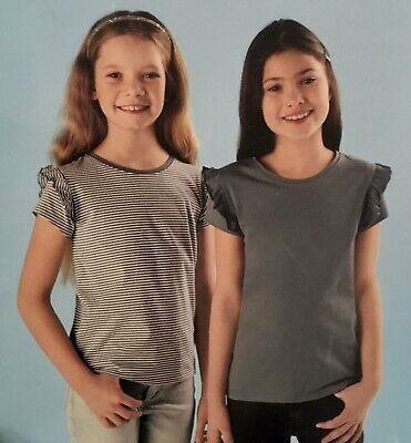 🎁🎄Brand New With Tags,X2 Pack Girls T-shirts 100% Cotton Age 5-6yrs 🎄🎁