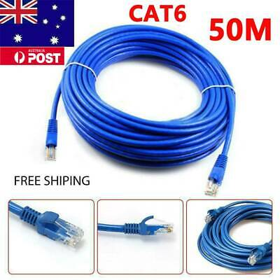 50m Ethernet Network Cable LAN Router Internet Patch Lead CAT6 100M/1000Mbps