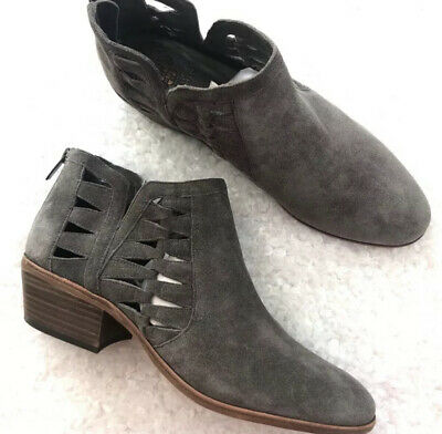 VINCE CAMUTO Womens /'Raina/' Dark Forest Tumbled Buff Goat Ankle Boots Sz 7.5-9.5