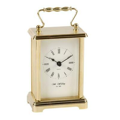 Wm.Widdop Gold Coloured Carriage Clock with White Dial