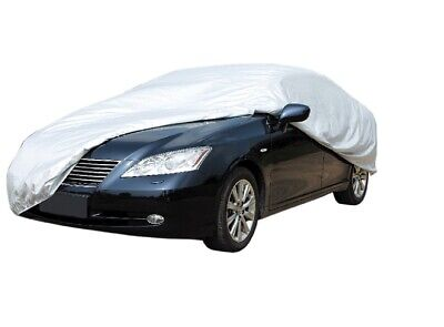 LARGE Full Car Cover Breathable Water Resistant Elasticated Hem 482 x 178 x 119