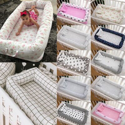 New Foldable Newborn Baby Pod Nest Cocoon Bed Sleep Cushion Lounger Sleeping Mat