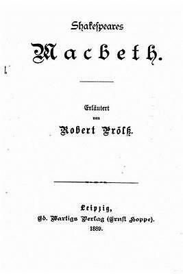 Shakespeares Macbeth by Robert Prolss (German) Paperback Book Free Shipping!