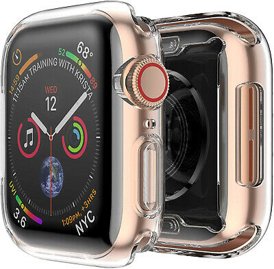 Case for Apple Watch Series 5 4 3 2 Thin Clear TPU Screen Protector iWatch Cover