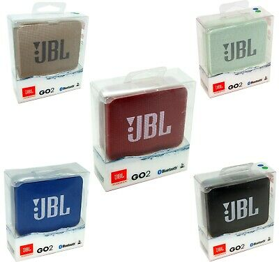 JBL GO2 Portable Bluetooth Wireless Speaker Go 2 Red Blue Mint Green Gold NEW