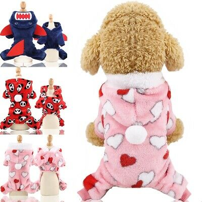 Winter Dog Coats Pet Cat Puppy Chihuahua Clothes Stars Hoodie Warm for Small Dog