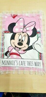 New Disneys pink Minnie Mouse baby burp cloth bib winding shoulder towel back