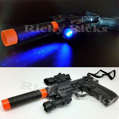 Inflatable Tommy Gun Black 75cm Play Prop Book Week Costume Carnival Accessory