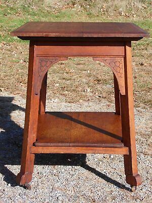 Antique Arts & Crafts Mission Oak Entry Center Occasional Table Craftsman Era