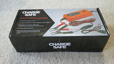 NEW Charge Safe Smart Battery Charger - 6V/12V fully automatic