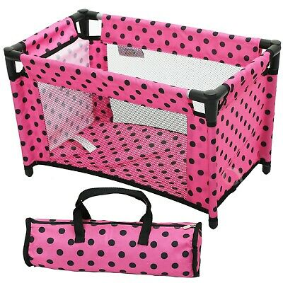 2in1 Dolls High Feeding Chair Swing Carry Cot Bed Toy Accessories Play Set