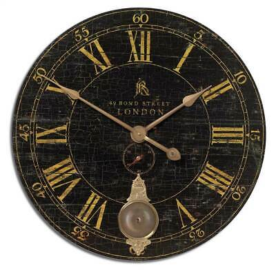 Antique Brass Wall Clock in Black [ID 3178290]