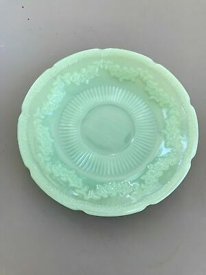 Fire King Jadeite Jadite Alice Saucer Green Milk Glass Vintage Anchor Hocking