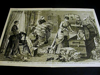 Saratoga Vacation 5th Avenue VICTORIAN LADY PACKING for TRIP 1879 Large Print