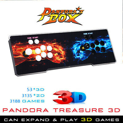 Pandora's Box 3188 in 1 Games 4Players Retro Console VGA Fr Laptop Projector TV
