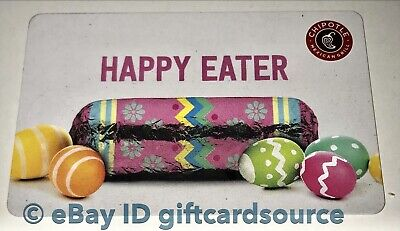 """Chipotle Gift Card """"Happy Eater"""" Easter Eggs Collectible New 2019"""