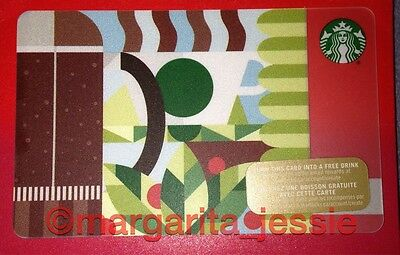 "New No Value Canada Series Starbucks /""COFFEE BLUEPRINT 2015/"" Gift Card"