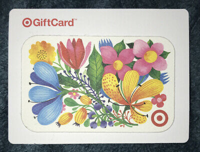 Target Gift Card 2018 Colorful Garden Flowers Collectible No Value New