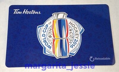 World Cup Of Hockey 2016 Fd53657 Tim Hortons Canada Gift Card New Collectible