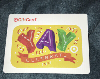 "Target Gift Card Celebrate ""Yay"" No Value New Collectible 2017"