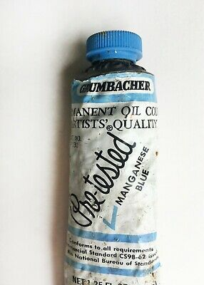 Genuine Manganese Blue Real PB 33 Oil Paint Vintage Grumbacher
