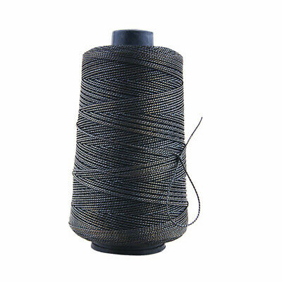 Strong Bounded Nylon Leather Sewing Waxed Thread for Craft Repair Shoes Black AX