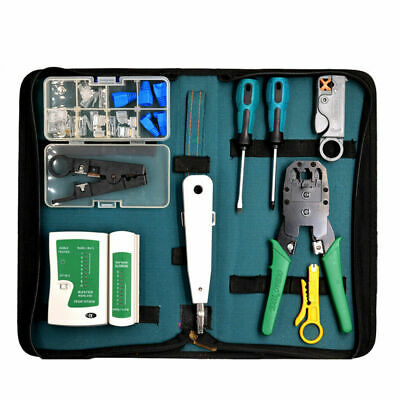 CAT6 RJ45 Ethernet Network Cable Lan Crimper Punch Down Tool Kit Tester