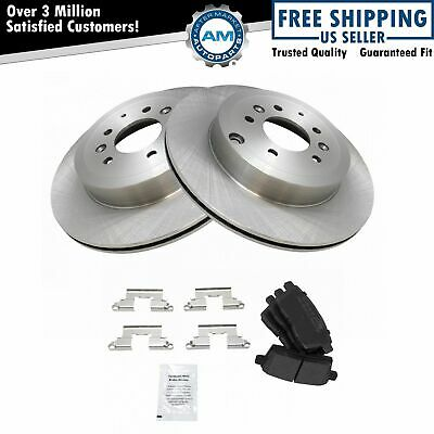 Nakamoto Rear Semi Metallic Brake Pad /& s Rotor Set Kit for 07-12 Mazda CX9 CX-9