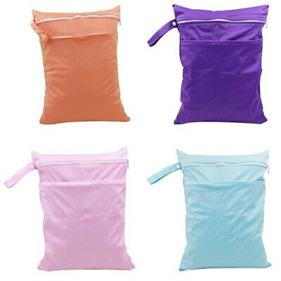 Wet Bag Double Zip Waterproof For Nappies, Clothes, Swim Garbage Bag Bag LrJNE