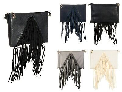 Luxury Women's Tassel Fringe Messenger Shoulder Bag Ladies Handbag Crossbody Bag