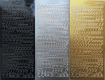 Mixed Italic Alphabet Letters Peel Off Sticker Sheet For Card Making Craft