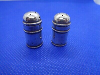 Pair Of Edwardian 1904 Fully Hallmarked Silver Pepperettes