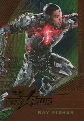CZX DC Super Heroes & Villains Red STR PWR Chase Card S10 Ray Fisher as Cyborg