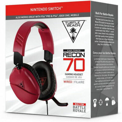 Turtle Beach Ear Force Recon 70N Headset RED for PS4 Xbox One Switch NEW Gaming