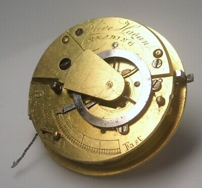 Verge fusee pocket watch movement  good balance