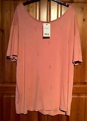 Next Pink Sparkle Off The Shoulder Long Top Size 18-20 New Tags Christmas Party