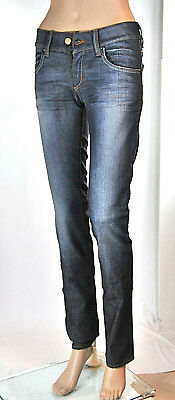 Jeans Donna Pantaloni MET Made in Italy Slim Fit CA91 Blu Tg 28 veste piccolo