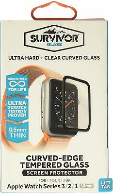 Griffin Apple Watch 3/2/1 38mm / 42mm Survivor Curved Glass Screen Protector