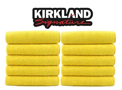 Kirkland Signature 40cm Ultra Plush Microfibre Towels/Soft Cloth - 10 Pack