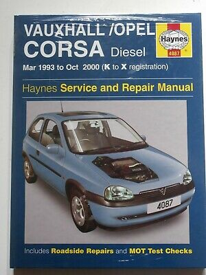 Haynes Owners Workshop Car Manual Vauxhall Corsa Diesel 93-00  4087