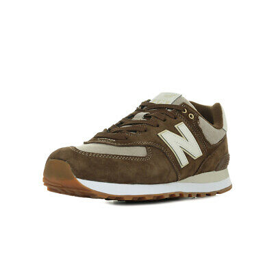 Chaussures Baskets New Balance homme 574 SNM taille Marron Suède Lacets